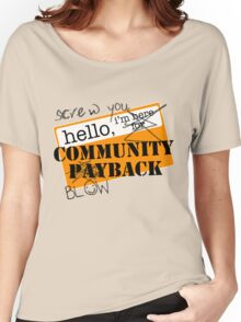 community BLOWBACK. Women's Relaxed Fit T-Shirt