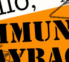 community BLOWBACK. Sticker