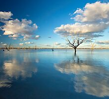 Cloud Makers - Lake Pinaroo, NSW by Malcolm Katon