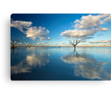 Cloud Makers - Lake Pinaroo, NSW Canvas Print
