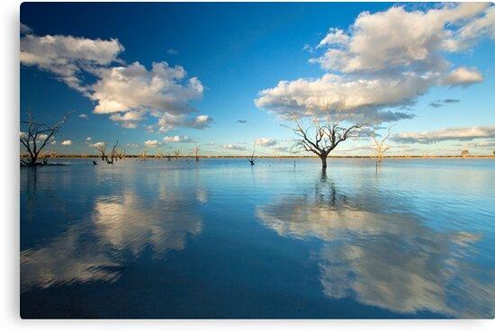 Cloud Makers - Lake Pinaroo, NSW by Malcolm Katon