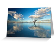 Cloud Makers - Lake Pinaroo, NSW Greeting Card