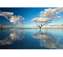 Cloud Makers - Lake Pinaroo, NSW Photographic Print