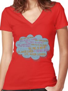 life makes ECHOES. Women's Fitted V-Neck T-Shirt