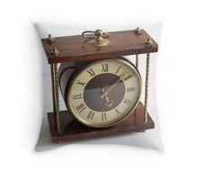 Wooden clock Throw Pillow