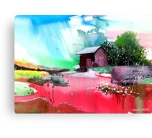Back to pavilion Canvas Print