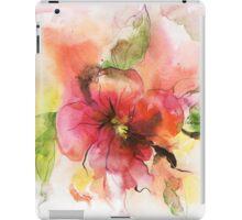 Beautiful pink flower, watercolor iPad Case/Skin