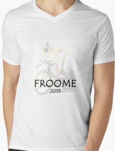Chris Froome 2013 Mens V-Neck T-Shirt