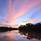 """Thompson River Sunset, Longreach"" by GrantRolphPhoto"