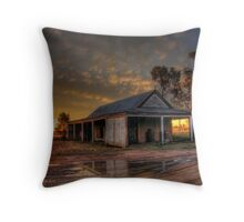 Sunset over the stables - Gular Station NSW Throw Pillow