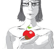 girl with an apple by vectorass