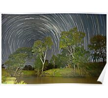 """""""Star trail over Condamine"""" Poster"""