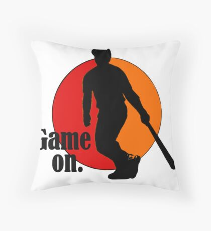 Baseball Fan: Game On. Throw Pillow