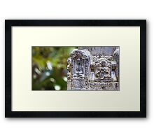 Stone Carvings Framed Print