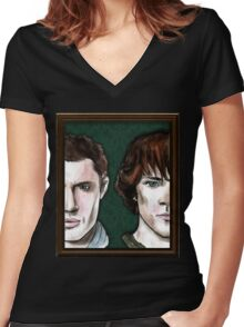 The Winchester Brothers Women's Fitted V-Neck T-Shirt