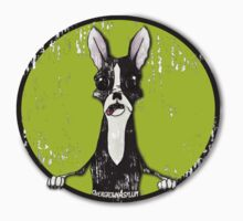 Boston Terrier Retro Pop Out One Piece - Short Sleeve