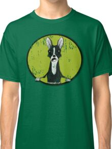 Boston Terrier Retro Pop Out Classic T-Shirt