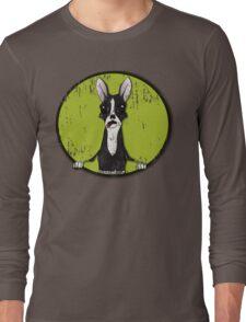 Boston Terrier Retro Pop Out Long Sleeve T-Shirt