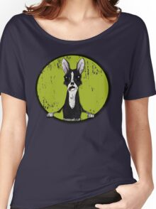 Boston Terrier Retro Pop Out Women's Relaxed Fit T-Shirt