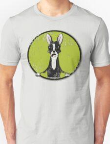 Boston Terrier Retro Pop Out Unisex T-Shirt