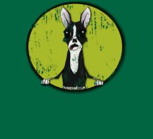 Boston Terrier Retro Pop Out Unisex T-Shirt