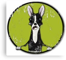 Boston Terrier Retro Pop Out Canvas Print