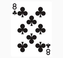 Eight of Clubs Playing Card by CrazyAsia