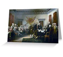 Signing The Declaration Of Independance Greeting Card
