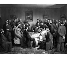 President Abraham Lincoln On His Deathbed by warishellstore
