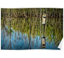 Nesting Box in a Pond in West Michigan Poster
