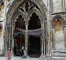 Ely Cathedral, crayoned by lisa1970