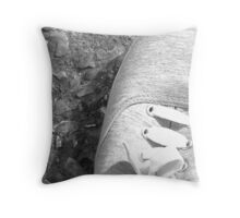 Lonely Shoe Throw Pillow