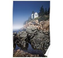 Lighthouse at Bass Harbor Maine Poster