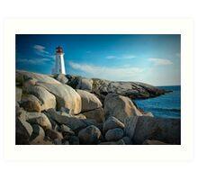 Peggys Cove Lighthouse in Nova Scotia - Number 142 Art Print