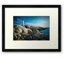 Peggys Cove Lighthouse in Nova Scotia - Number 142 Framed Print