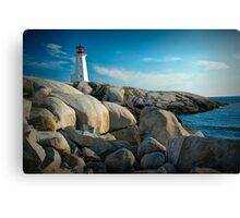 Peggys Cove Lighthouse in Nova Scotia - Number 142 Canvas Print