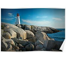 Peggys Cove Lighthouse in Nova Scotia - Number 142 Poster
