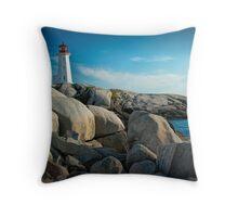 Peggys Cove Lighthouse in Nova Scotia - Number 142 Throw Pillow