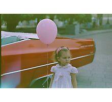 Girl with balloon  Photographic Print