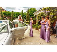 Carla & her bridesmaids Photographic Print