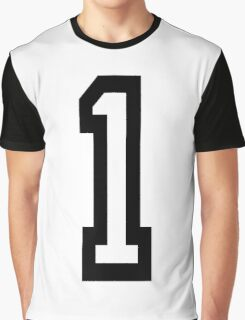1, TEAM SPORTS, NUMBER 1, ONE, FIRST, Numero Uno, Uno, Ichi, Win, Winner, Competition Graphic T-Shirt