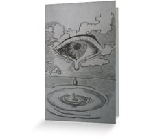 A teardrop in the ocean Greeting Card