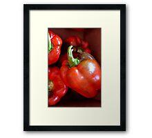 Crisp Red Peppers  Framed Print