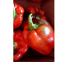 Crisp Red Peppers  Photographic Print
