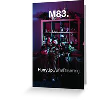 M83 - Hurry Up, We're Dreaming Album Art Poster Greeting Card