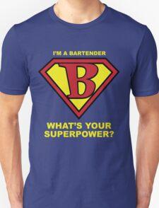 Bartender Superhero Unisex T-Shirt