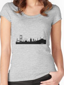 istanbul silhouette Women's Fitted Scoop T-Shirt