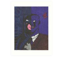 Half Batman Half Two-Face Art Print