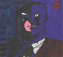 Half Batman Half Two-Face by batmanjpd