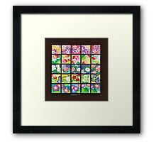 FLORAL PRINT AND PATTERNS Framed Print
